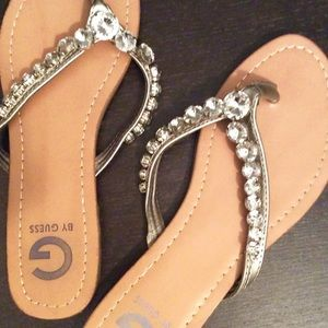 G by Guess Rhinestone Sandals